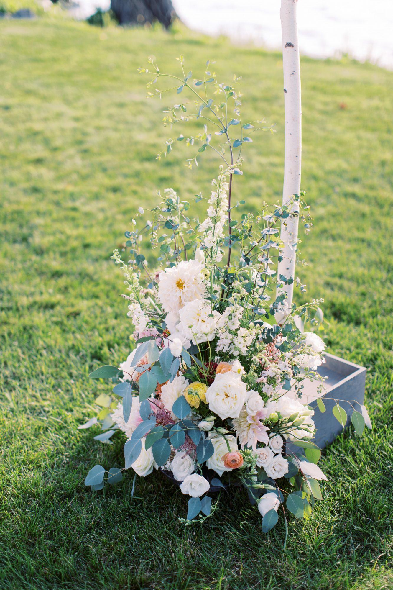charlene jeremy wedding arch with flowers