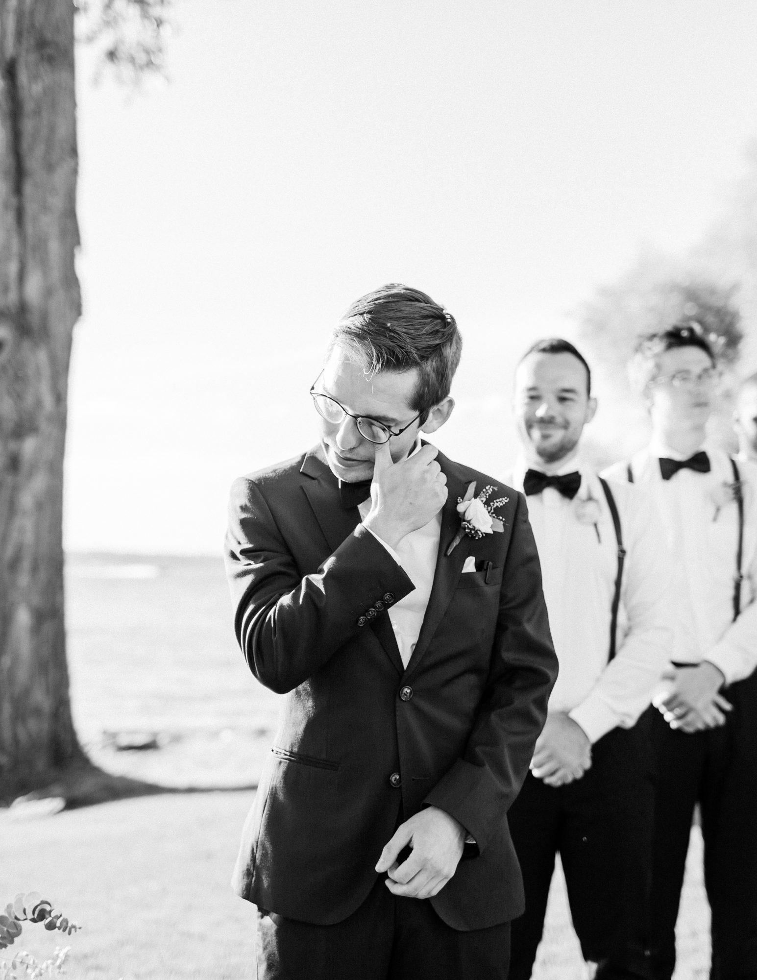 charlene jeremy wedding groom cries seeing bride