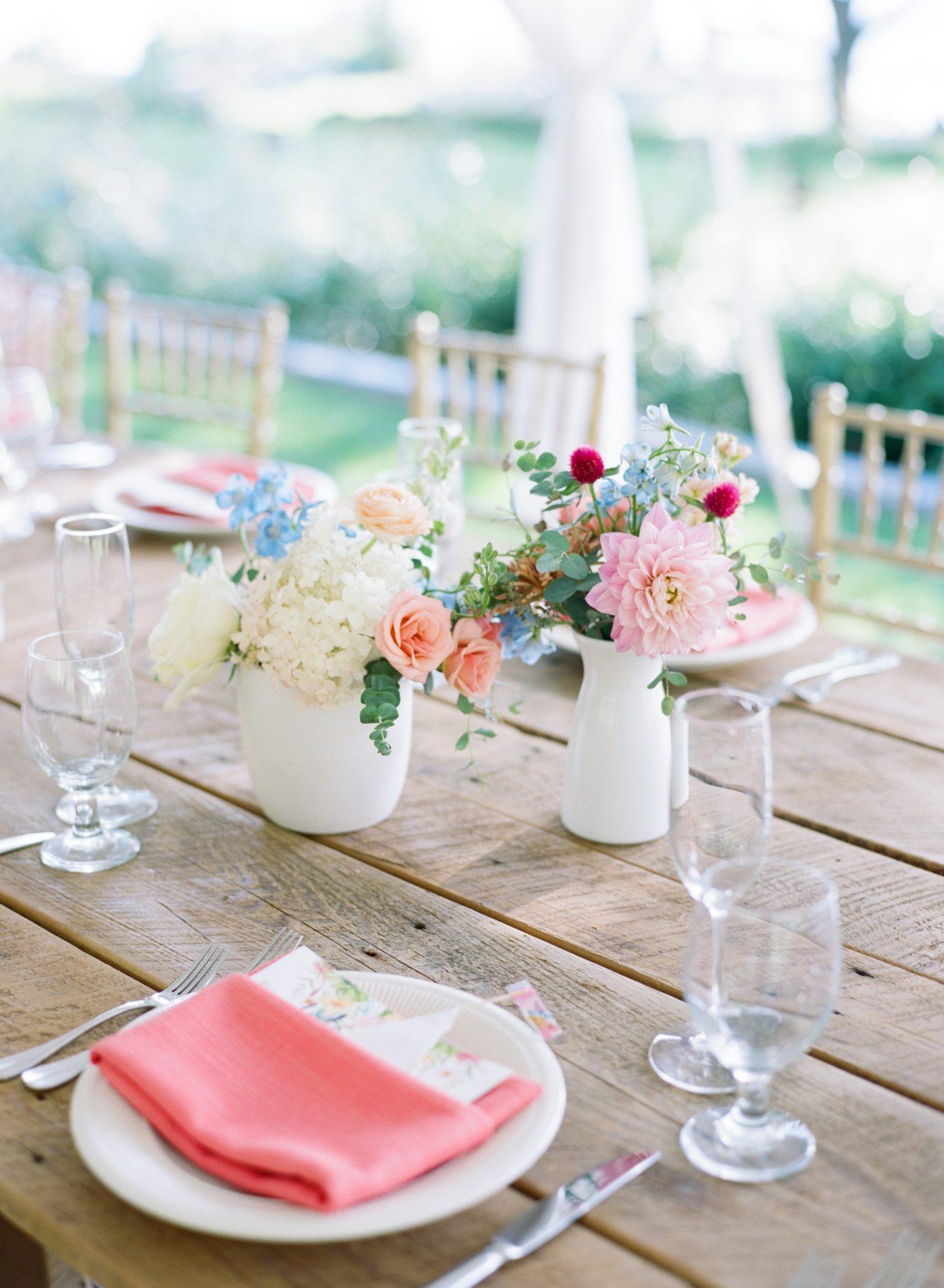 charlene jeremy wedding reception table centerpieces