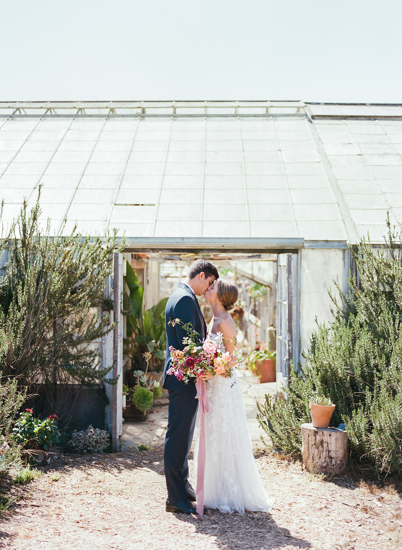 Here's What Happens When You Host an Elevated Garden Party Wedding Inside a Greenhouse