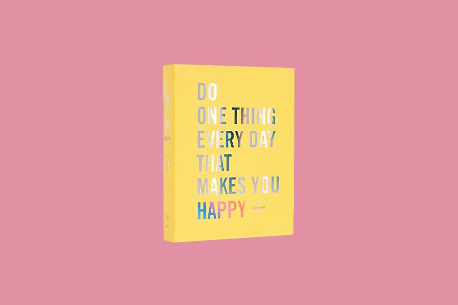 yellow happy journal