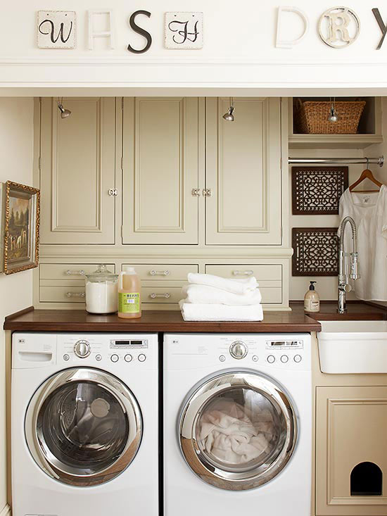Laundry Room Cabinetry Ideas | Better Homes & Gardens on Laundry Cabinets Ideas  id=75454