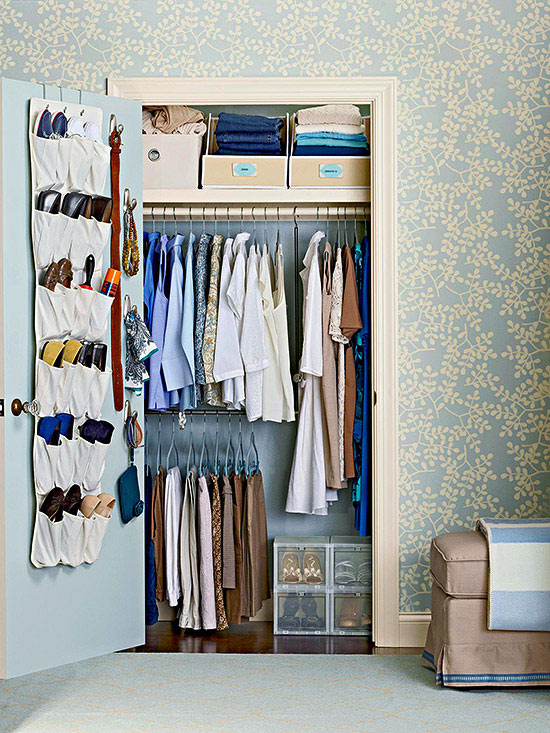 Bedroom Closet: Doubled-Up Storage