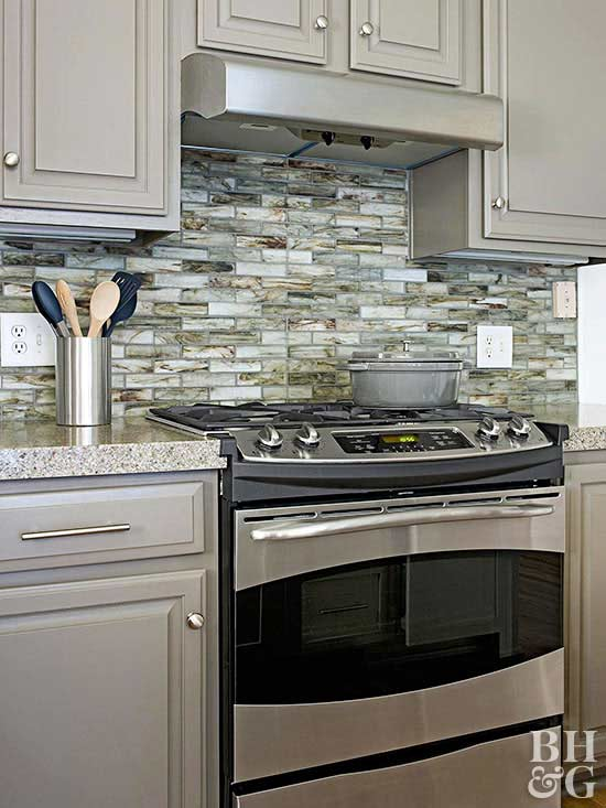 Backsplash Designs Decoration Think Green. recycled glass tile backsplash