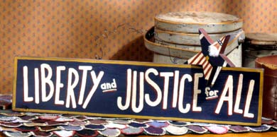 Wooden Liberty Sign