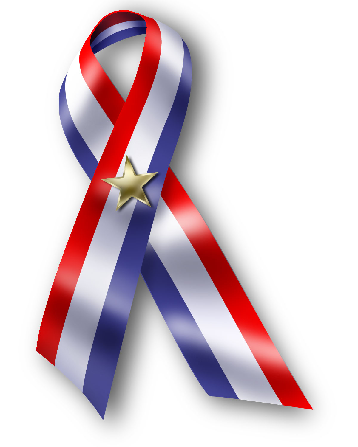 Ribbon-Red White Blue
