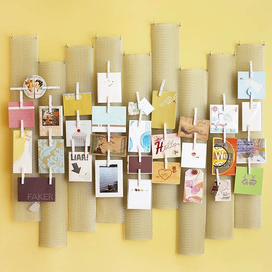 Memo Board Made from Repurposed Finds