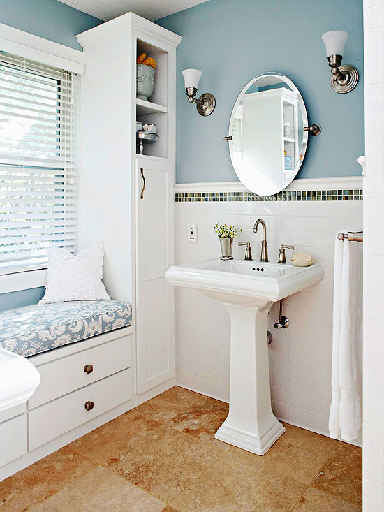 Try a Pedestal Sink