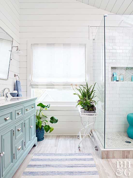 Space Saving Master Bath, bathroom