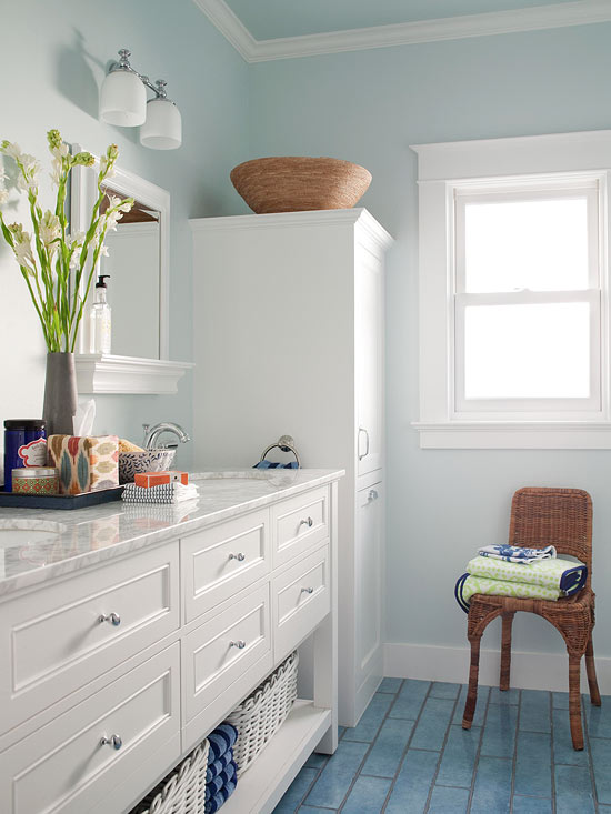 Nice 10 Small Bathroom Color Ideas