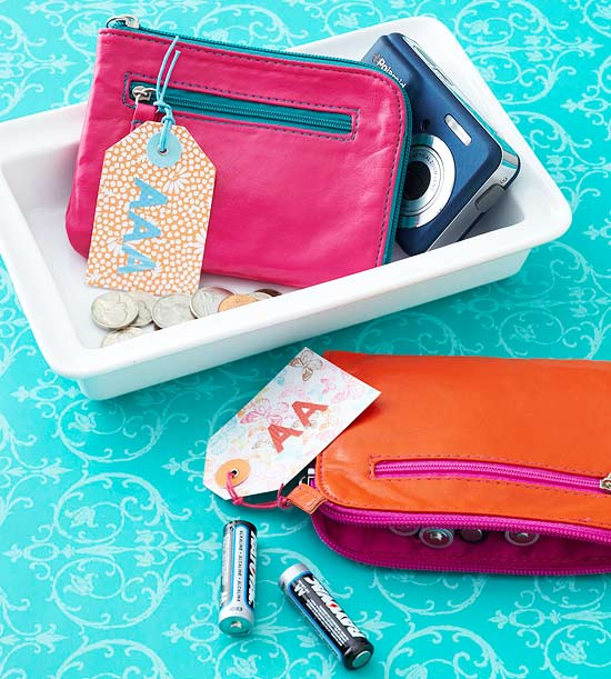 Coin purse battery storage