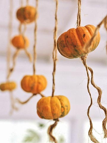 Hanging Pumpkin Twists