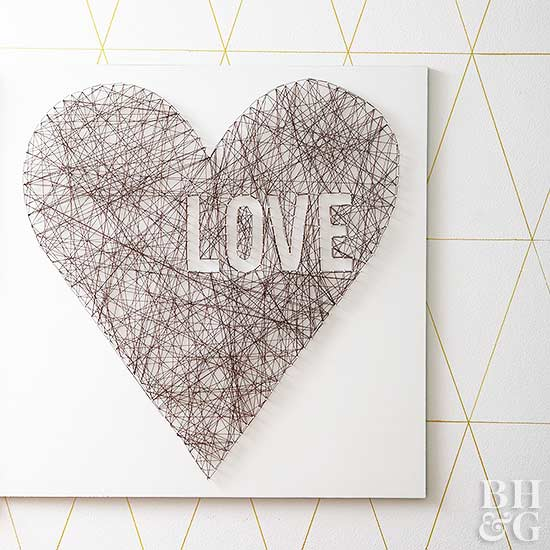 Valentine's Day Love Wall String Art