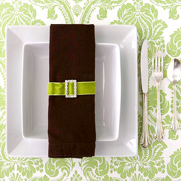 Napkin ring with buckle