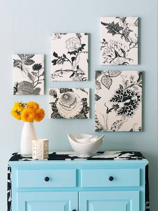 Fabric-Covered Canvases