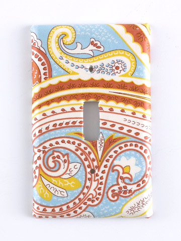 Fabric-Covered Switchplate