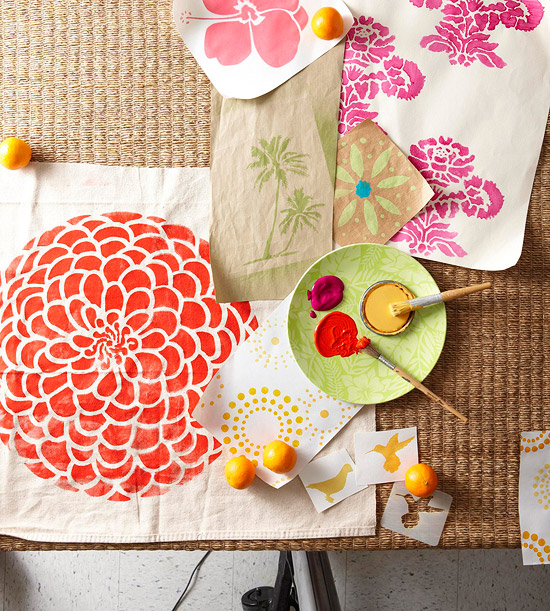 Decorate with stencils