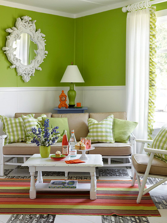 Reinvented Charm. Bold Green Walls