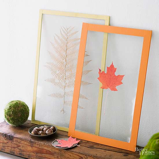Pressed Fall Leaf Artwork