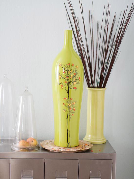 Branch-Painted Vase