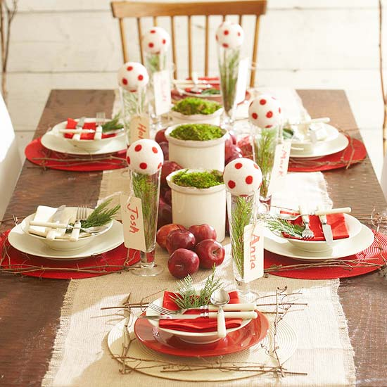 Fun Christmas Table Decorations