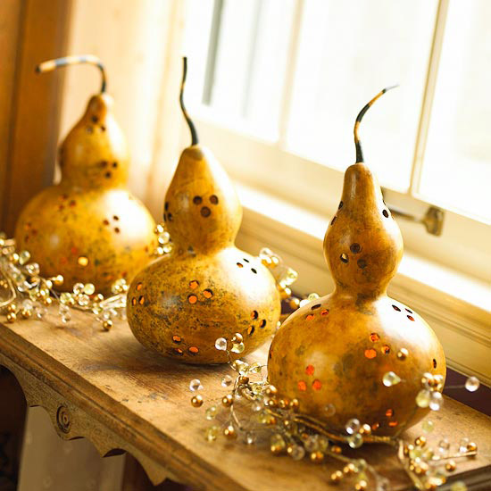 Gourds on a Shelf