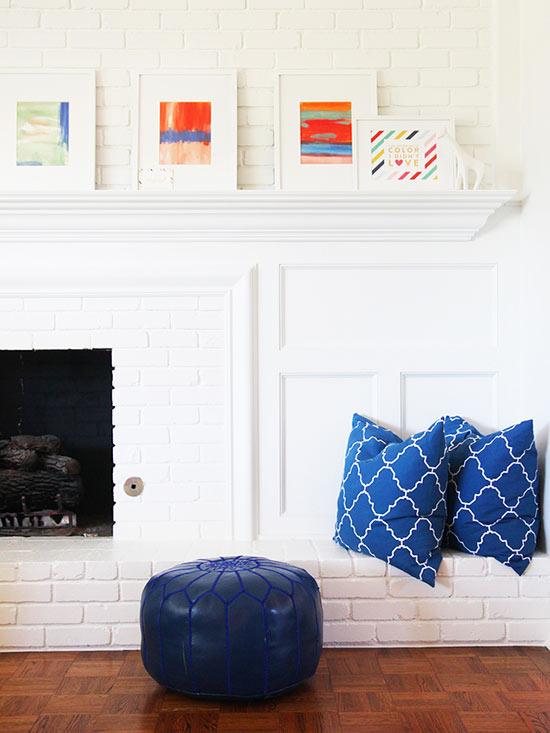 Family Room Mantel & Gallery Space