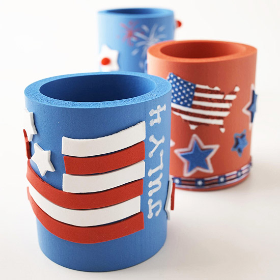 Patriotic beverage insulators