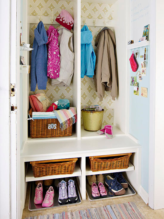 Mudroom Closet Transformed E Mini Entry Storage Cabinet
