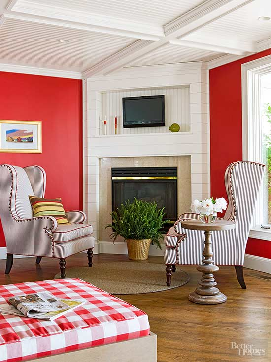 Decorating with Red Walls | Better Homes & Gardens