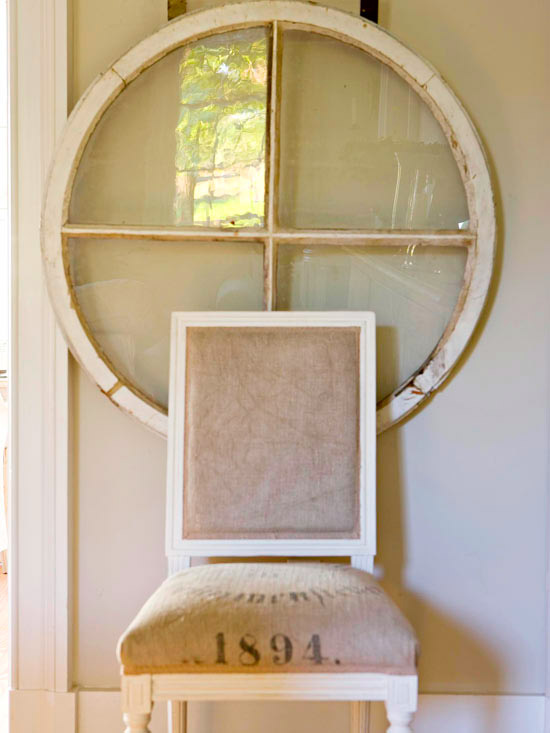 barn window vintage chair