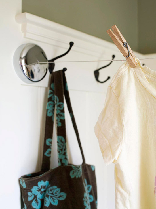 hooks and clothes line