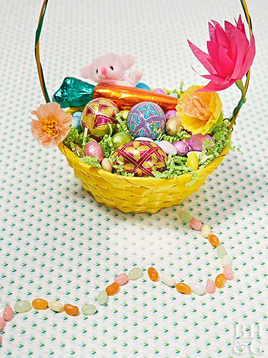 easter basket jelly bean trail