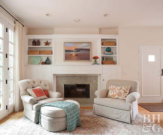 Before And After Fireplace Makeovers Better Homes Amp Gardens