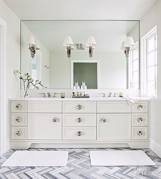 White Vanity Bathroom