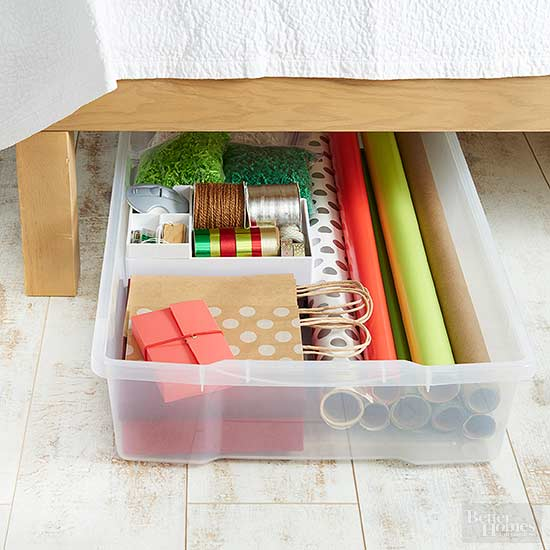 Out Of Sight Gift Wrap Storage