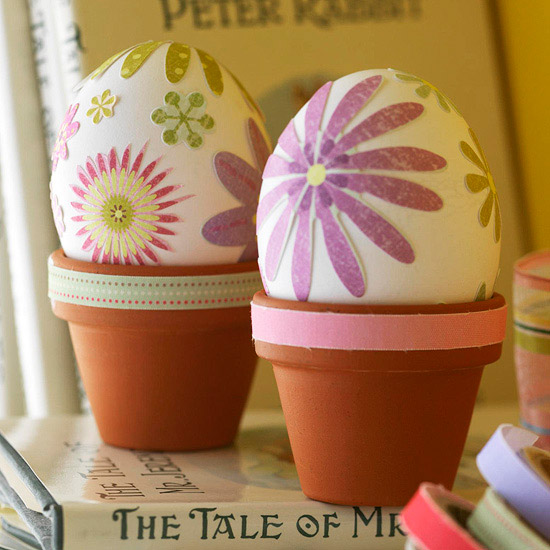 Potted Plants Easter Eggs