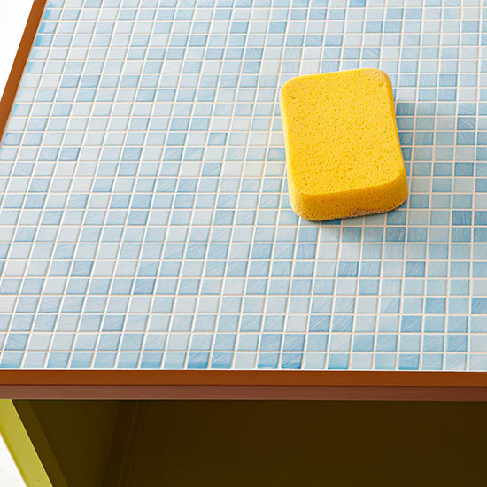 Grout on bench