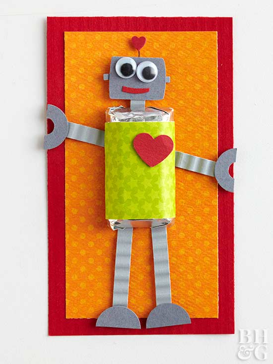 Robot Candy Bar Card