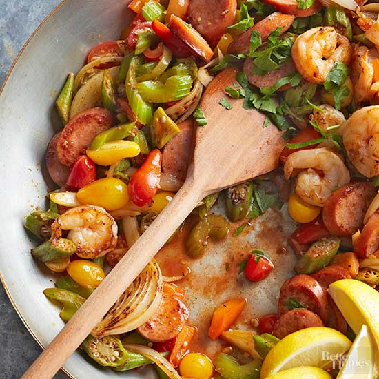 Cajun Shrimp and Sausage Stir-Fry