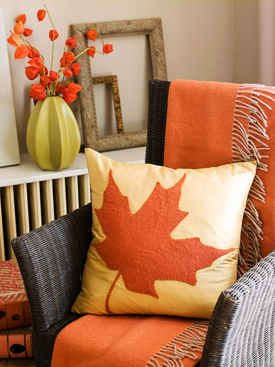 Wicker chair with pillow