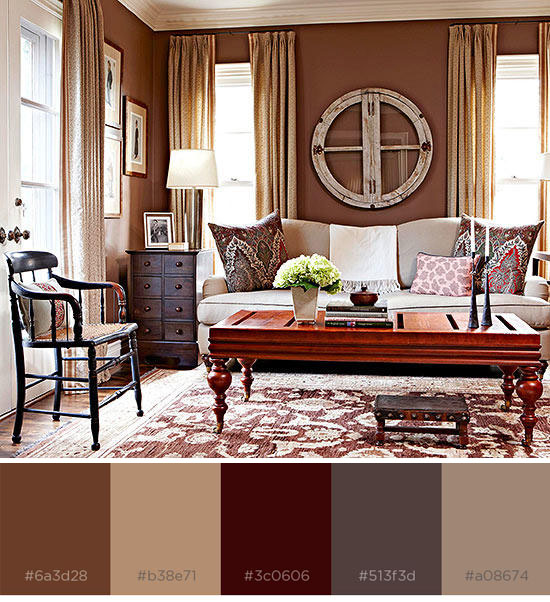 Shades Of Brown Color Scheme With Swatches