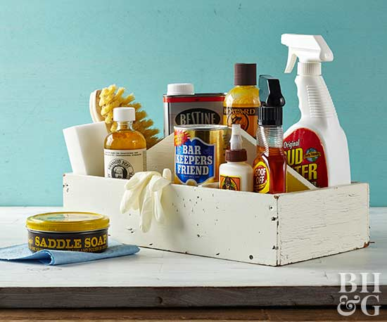 Saddle soap and leather cleansing