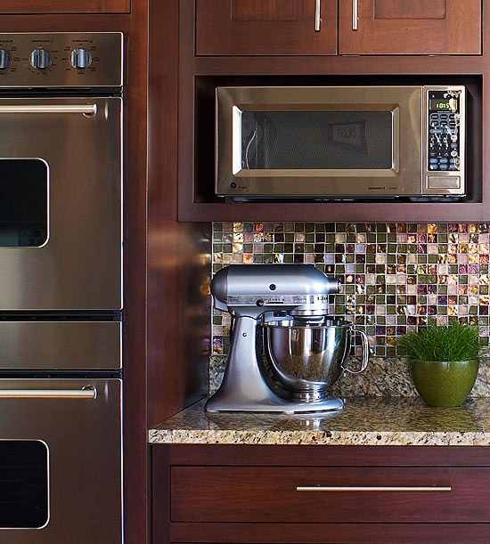 How To Integrate A Microwave Better Homes Amp Gardens