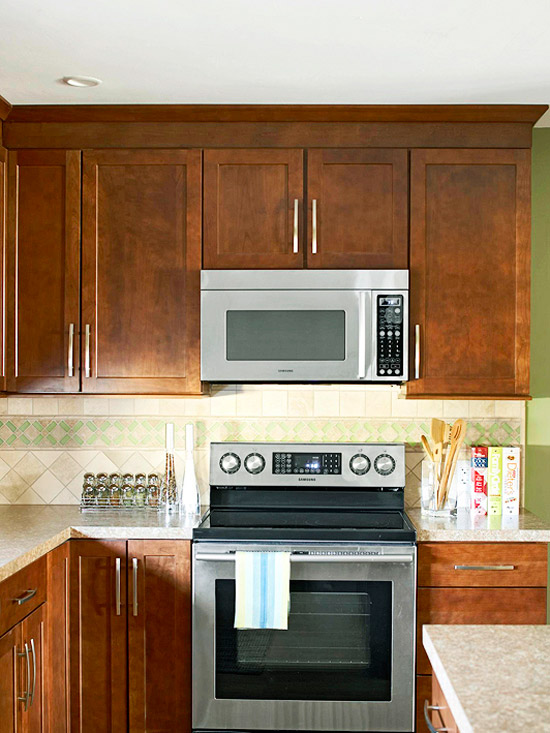 How to Integrate a Microwave | Better Homes & Gardens Ideas For Kitchen Hidden Microwave on kitchen hidden sink, kitchen hidden storage, kitchen hidden pantry,