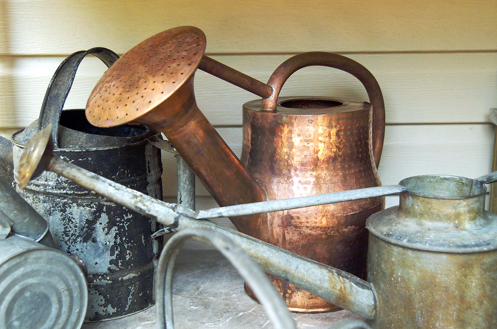 Aluminum And Copper Watering Cans
