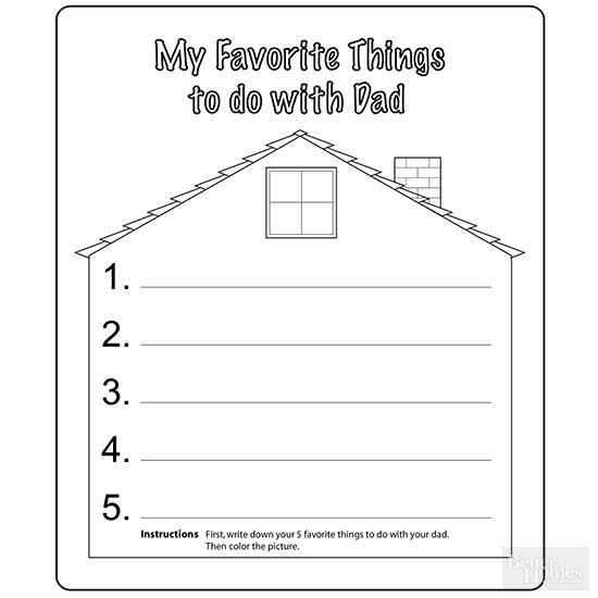 Father S Day Coloring Pages Better Homes Gardens