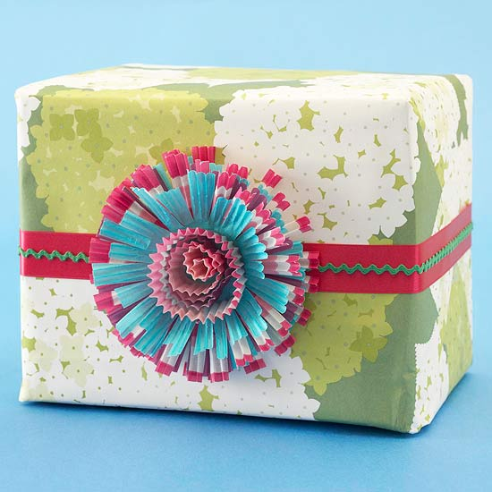 Gift Wrap Accents from Paper & Crafts Scraps