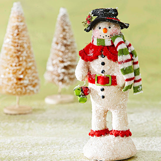 Glittered Clay Snowman