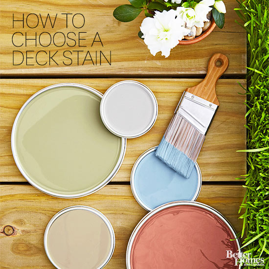 how to choose a deck stain